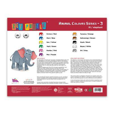 ZET PUZZLE Animal Colours Series-3 Fil/Elephant