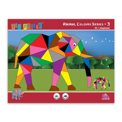 ZET PUZZLE Animal Colours Series-3 Fil/Elephant