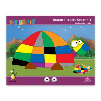 ZET PUZZLE Animal Colours Series-1 Kaplumbağa/Turtle
